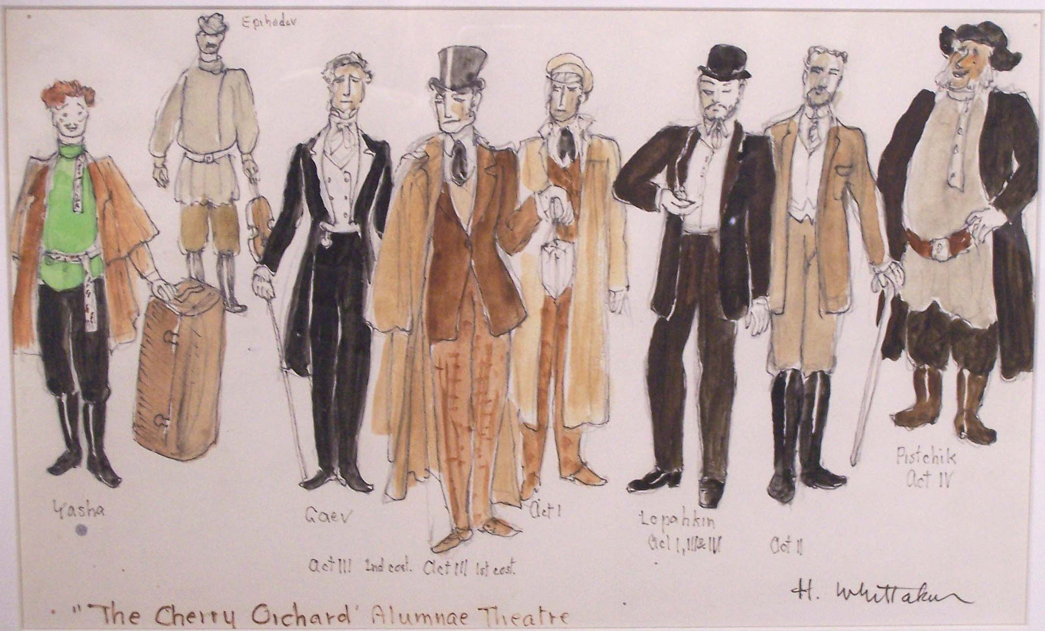 Whittaker costume design for The Cherry Orchard