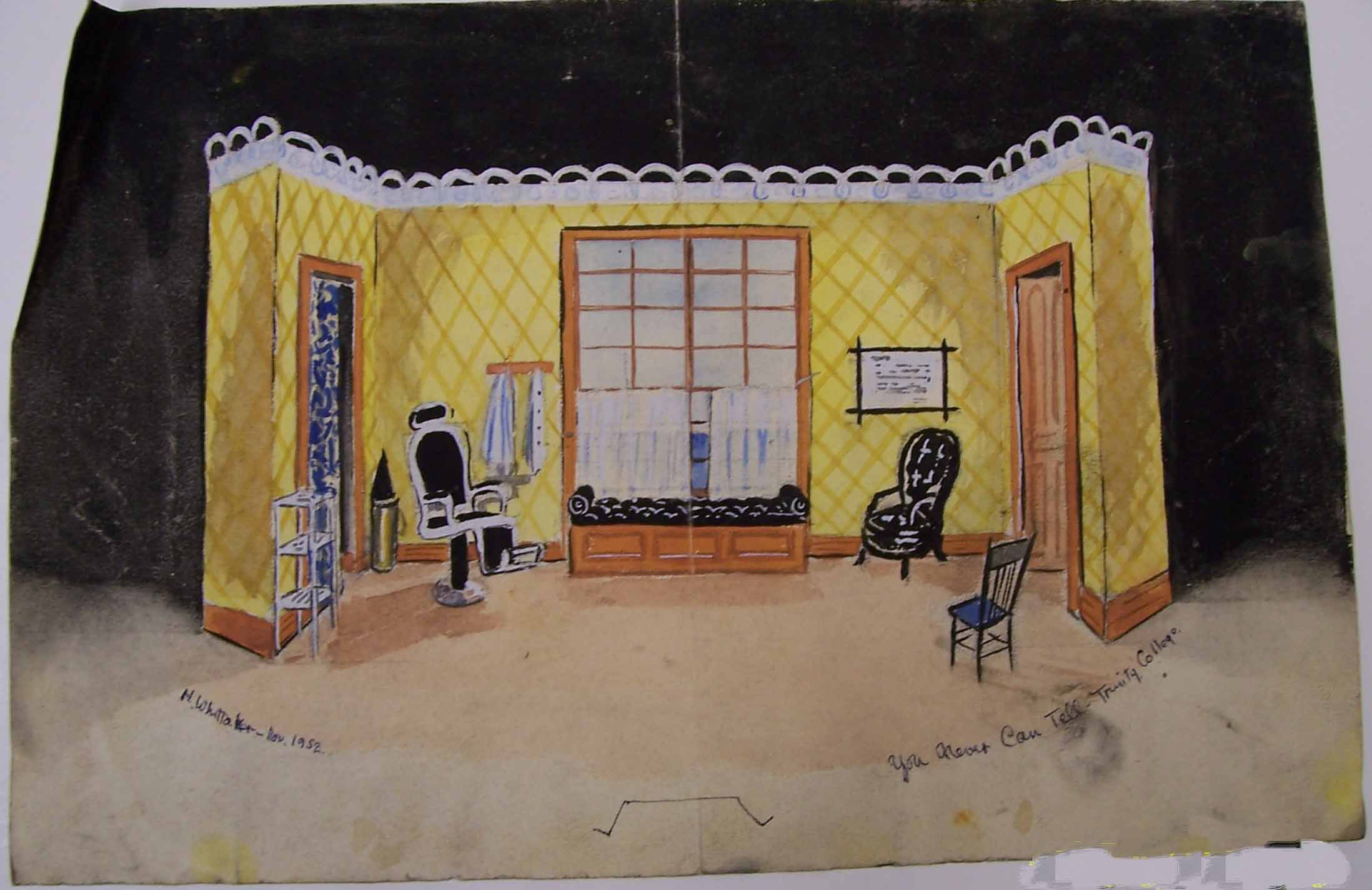 Whittaker set design for You Never Can Tell