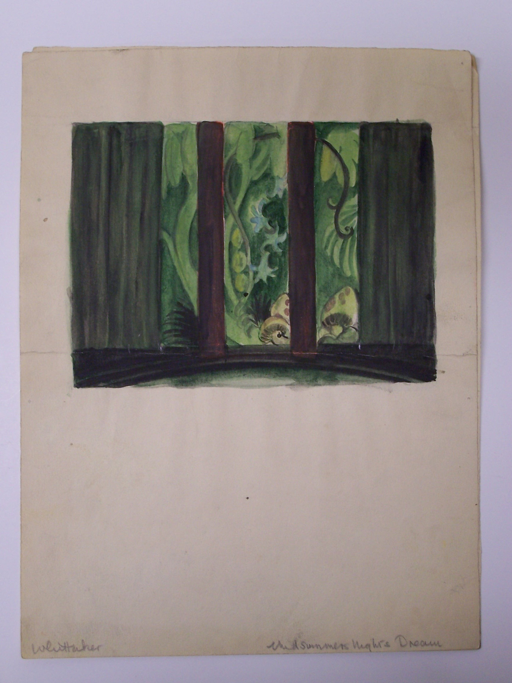 Whittaker set design for a Midsummer Night's Dream
