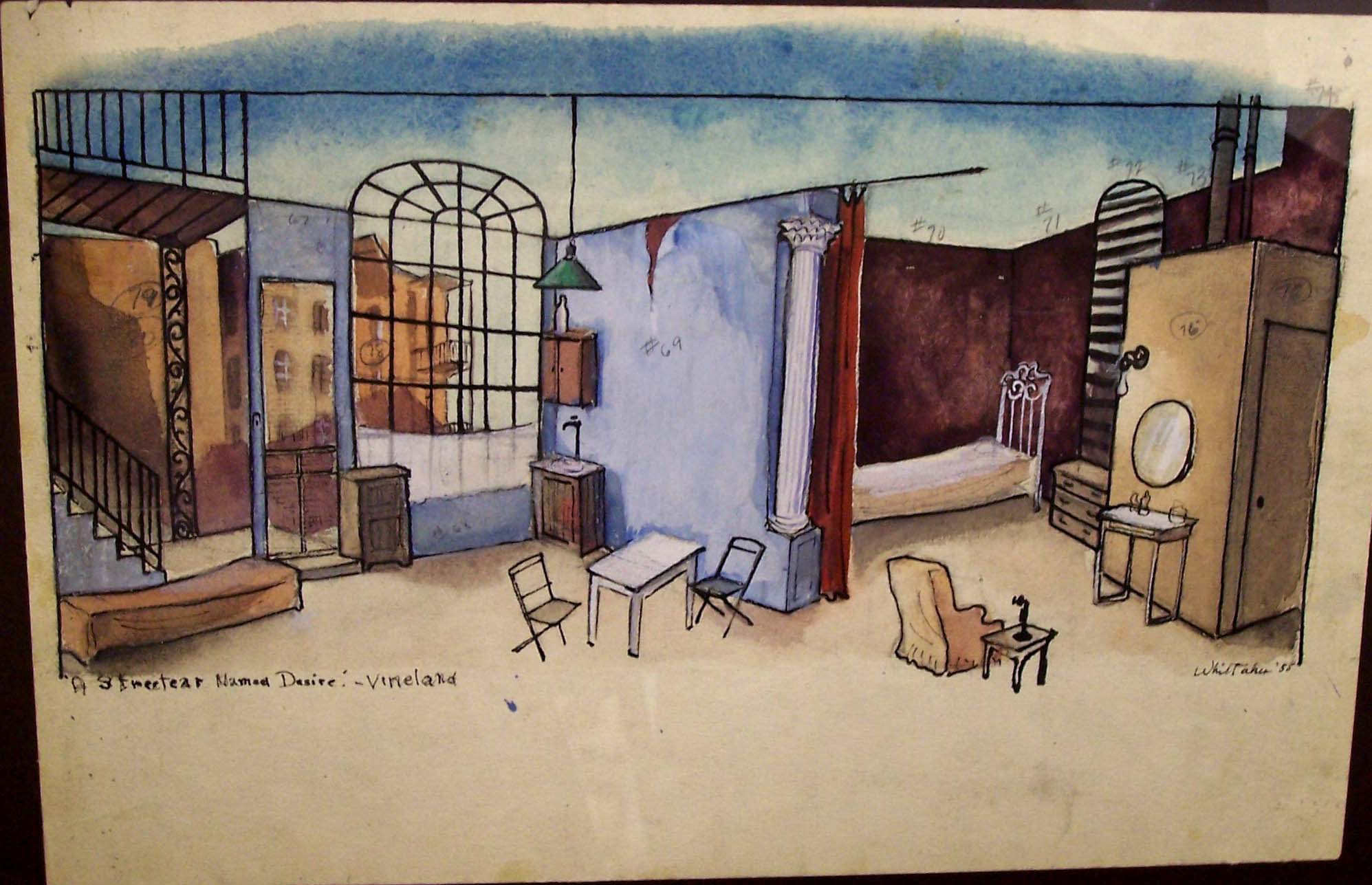 Whittaker set design for A Streetcar named Desire