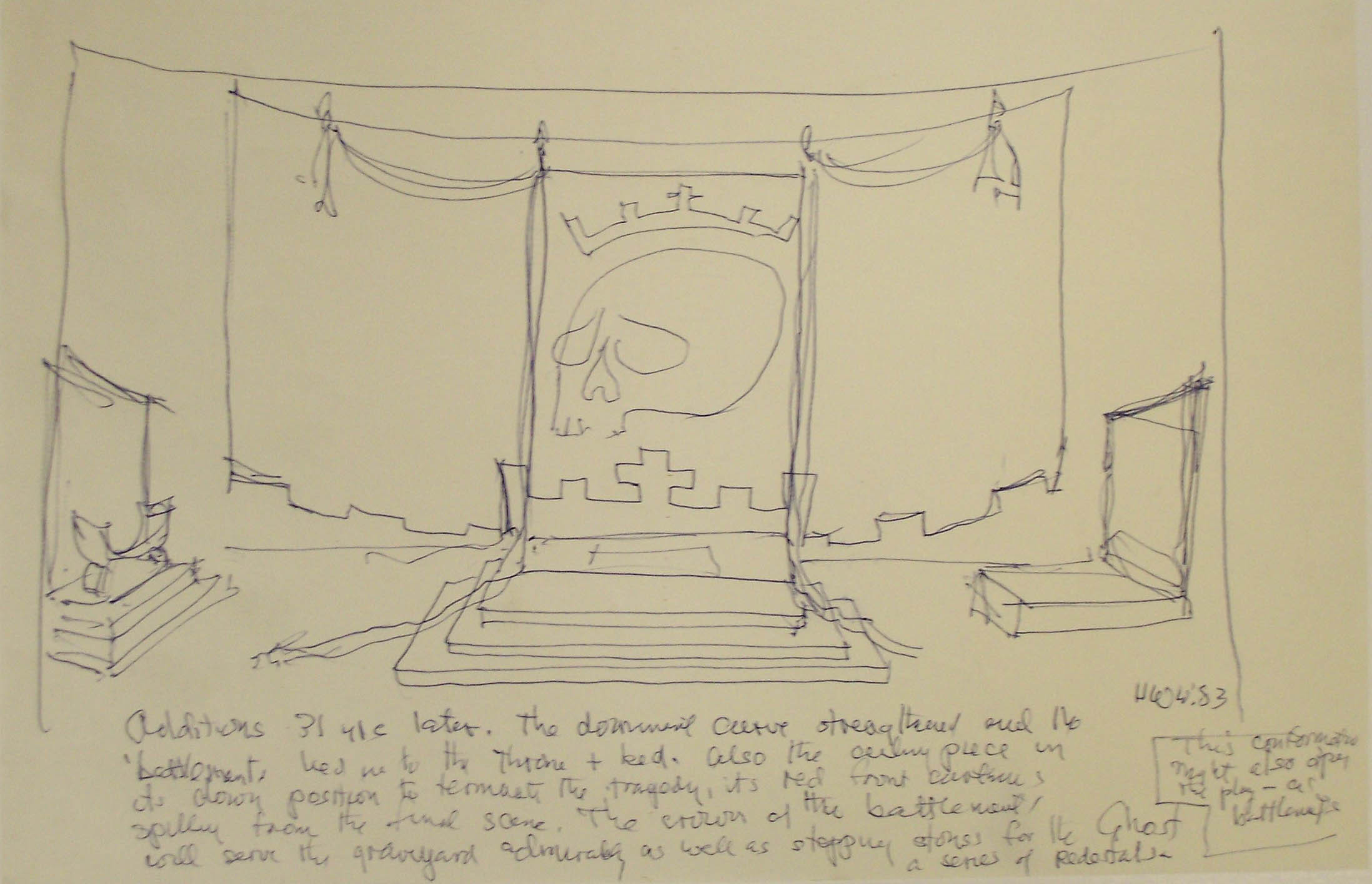 Whittaker set design for Hamlet