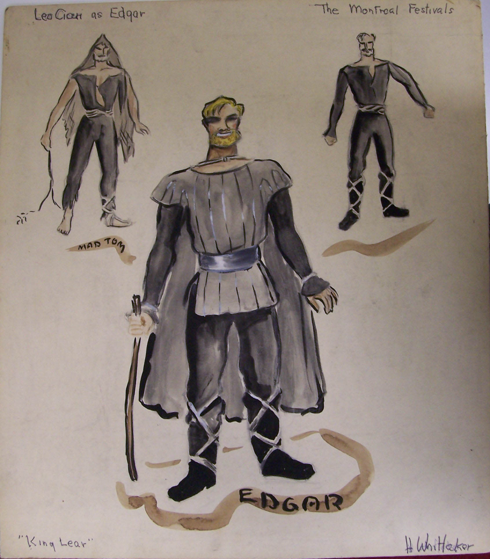 Whittaker costume designs for King Lear